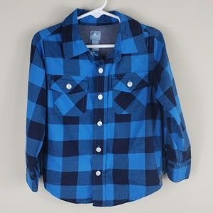 Gap   Boy's Checkered Print Button Down Shirt